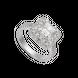 Nhẫn Vàng trắng 10K đính đá ECZ PNJ XMXMW002220