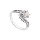 Nhẫn Vàng trắng 10K đính đá ECZ PNJ XMXMW002218