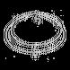 Dây cổ Bạc PNJSilver hình vòng nguyệt quế đính đá XMXMW060018