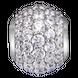 Hạt Charm Me PNJ Vàng trắng Ý 18K hình tròn đính đá