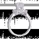 Nhẫn Vàng trắng 10K đính đá ECZ Swarovski PNJ XMXMW000136