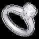 Nhẫn Vàng trắng 10K đính đá ECZ Swarovski PNJ XM00W000076