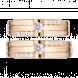 Nhẫn Cưới PNJ Chung Đôi Vàng 18K đính đá ECZ