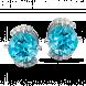 Bông tai PNJ Vàng trắng 14K đính đá Topaz 72517.600