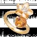 Nhẫn PNJ Sắc xuân vàng 18K đính đá Citrine