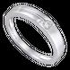 Nhẫn cưới Vàng trắng 10K đính đá ECZ Swarovski PNJ Chung Đôi XM00W000069