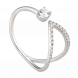Nhẫn PNJ Vàng trắng 10K đính đá ECZ 91043.100