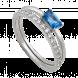 Nhẫn bạc PNJSilver đính đá màu xanh