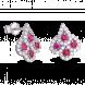 Bông tai PNJ Vàng trắng 14K đính đá Ruby 82007.600