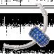 Hạt Charm DIY PNJSilver hình trụ đính đá màu xanh dương
