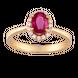 Nhẫn PNJ Vàng 18K đính đá Ruby 71610.600