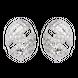 Bông tai PNJ Vàng trắng Ý 18K đính đá CZ 88700.100