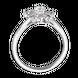Nhẫn Vàng trắng 10K đính đá ECZ Swarovski PNJ Frozen XMXMW001186