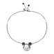 Lắc tay bạc đính đá PNJSilver Mickey Alone ZTZTW000003
