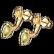 Bông tai Vàng 14K đính đá Peridot PNJ Sắc Xuân NP00Y000007