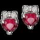 Bông tai Vàng trắng 14K đính đá Ruby PNJ Snow White & the Seven Dwarfs RBXMW000079