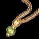 Mặt dây chuyền Vàng 14K đính đá Peridot PNJ Sắc Xuân NP00Y000001