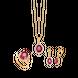 Bộ trang sức Vàng 18K đính đá Ruby PNJ Sắc Xuân 00831-00488