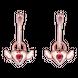 Bông tai trẻ em bạc đính đá PNJSilver Aura ZT00X000001