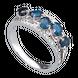 Nhẫn Vàng trắng 14K đính đá Sapphire PNJ SPXMW000005