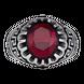 Nhẫn nam bạc đính đá màu đỏ PNJSilver ZT00A060000