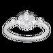 Nhẫn Vàng trắng 10K đính đá ECZ Swarovski PNJ XMXMW000198