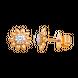 Bông tai Vàng 10K đính đá Suncut Swarovski PNJ Sunflower XM00Y000859