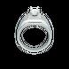 Nhẫn Nam Vàng trắng 10K đính đá ECZ Swarovski PNJ XMXMW001739