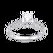 Nhẫn Vàng trắng 10K đính đá ECZ Swarovski PNJ XMXMW000125