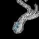 Mặt dây chuyền Vàng trắng 14K đính đá Aquamarine PNJ AQDDW000010