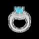 Nhẫn Vàng trắng 14K đính đá Topaz PNJ TPXMW000384 2