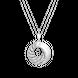 Mặt dây chuyền Vàng trắng Ý 18K đính đá CZ PNJ XM00W000258