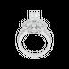 Nhẫn Vàng trắng 10K đính đá ECZ Swarovski PNJ XMXMW001956