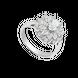 Nhẫn Vàng trắng 10K đính đá ECZ Swarovski PNJ XMXMW001808