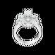 Nhẫn Vàng trắng 10K đính đá ECZ Swarovski PNJ XMXMW001999