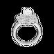 Nhẫn Vàng trắng 10K đính đá ECZ PNJ XMXMW001824 2