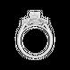Nhẫn Vàng trắng 10K đính đá ECZ PNJ XMXMW001839