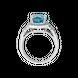 Nhẫn Vàng trắng 14K đính đá Topaz PNJ TPXMW000285