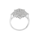 Nhẫn Vàng trắng 10K đính đá ECZ PNJ XMXMW060772
