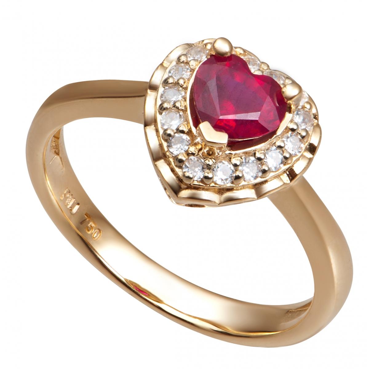 Nhẫn PNJ Vàng 18K đính đá Ruby 75575.600