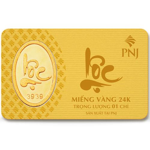 vàng miếng pnj chữ lộc 1 chỉ 24k hình con chó 70542 003