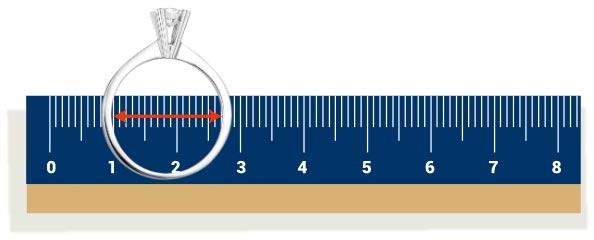 Bước 3: Đối chiếu số mm của thước với kích trên BẢNG SIZE NHẪN bên trên.