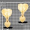 Bông Tai cưới PNJ Giao Duyên Vàng 24K