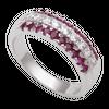 Nhẫn Vàng trắng 14K đính đá Ruby PNJ RBXMW000092