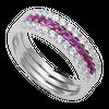 Nhẫn Vàng trắng 14K đính đá Ruby PNJ RBXMW000094