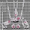 Bộ trang sức PNJ Phượng Hoàng Vàng trắng 14K đính đá Ruby