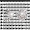 Bông tai PNJ dáng hồng vàng trắng 14K đính ngọc trai Freshwater