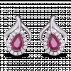 Bông tai PNJ Phượng Hoàng Vàng trắng 14K đính đá Ruby