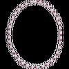 Dây cổ Vàng trắng 10K đính đá màu đỏ PNJ Melody ZTXMW000003
