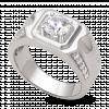 Nhẫn nam PNJ Vàng trắng 10K đính đá ECZ 84336.100
